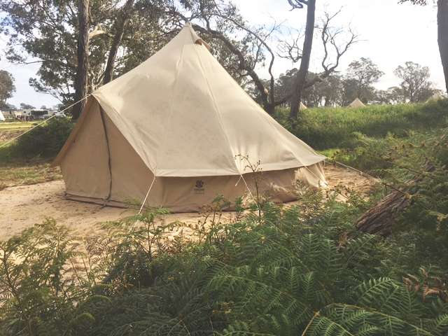 A picture of a bush bell tent