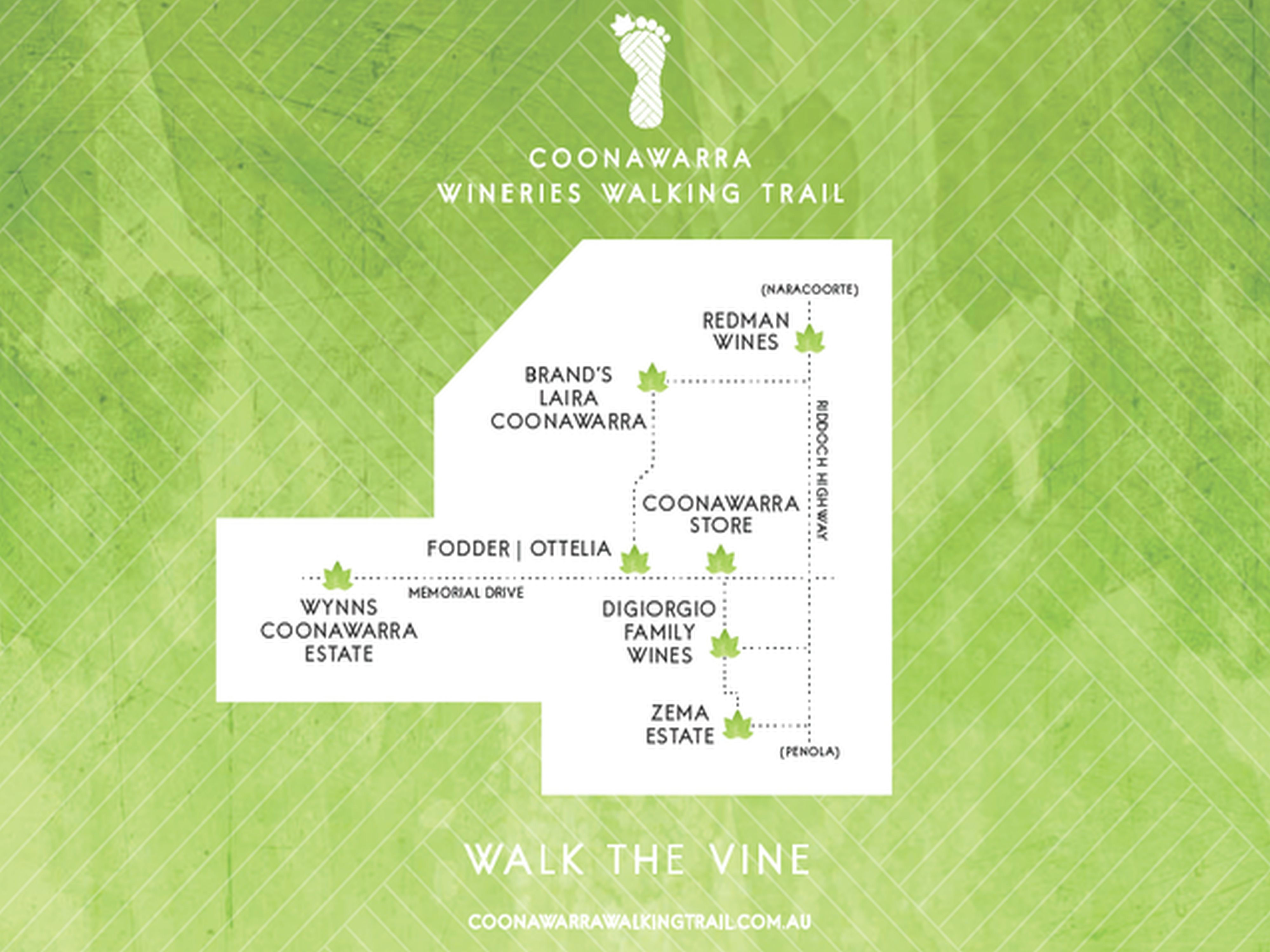 Wineries walking trail map