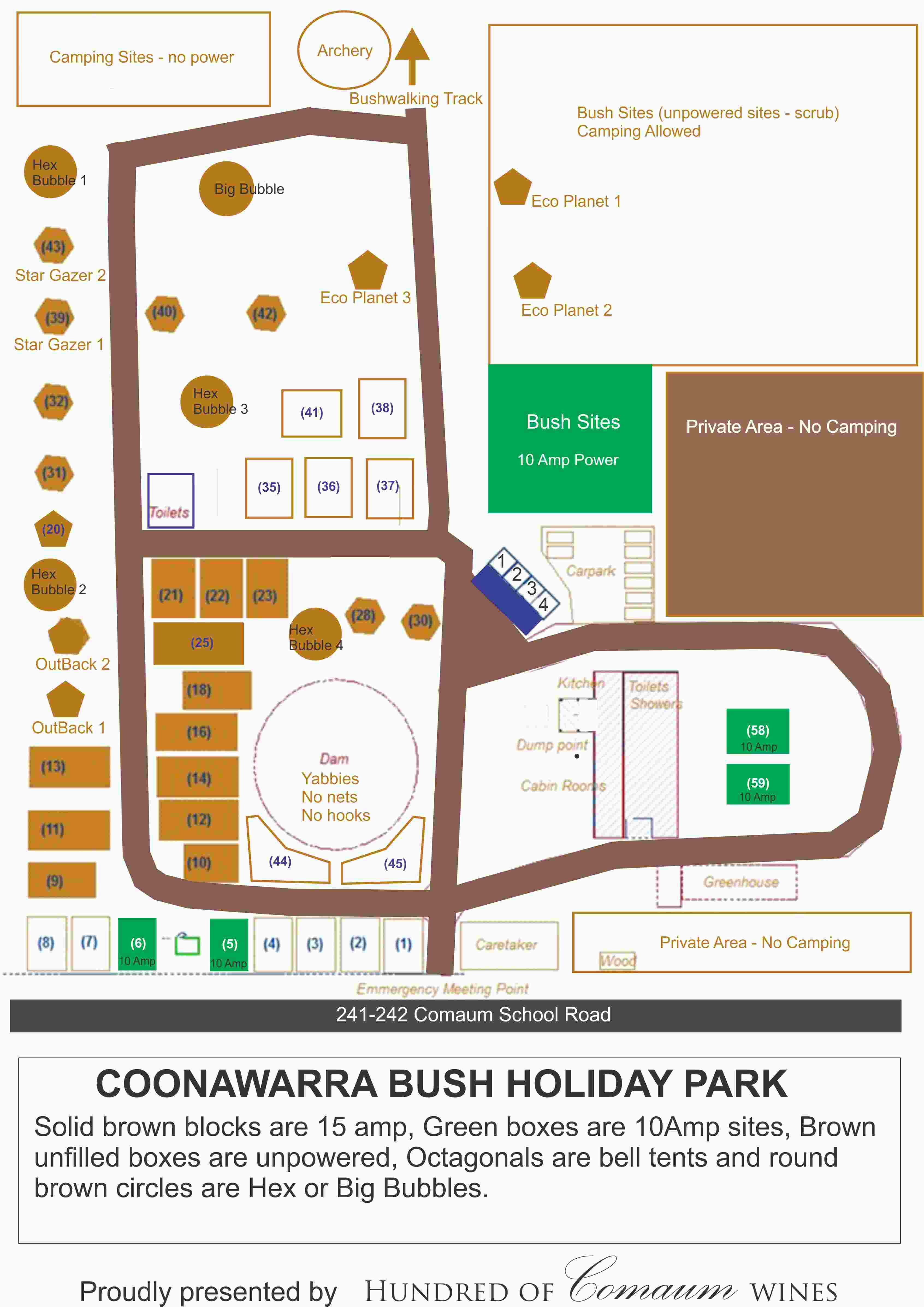 A site map of the whole park